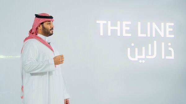 Saudi Crown Prince Mohammed Bin Salman announces a zero-carbon city called The Line to be built at NEOM in northwestern Saudi Arabia, January 10, 2021 - Sputnik International
