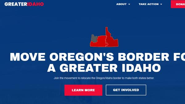 Screenshot from the website of the Greater Idaho movement - Sputnik International