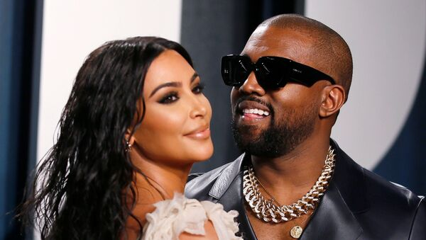 Kim Kardashian and Kanye West attend the Vanity Fair Oscar party in Beverly Hills during the 92nd Academy Awards, in Los Angeles, California, U.S., February 9, 2020 - Sputnik International