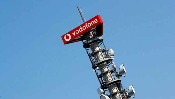 Different types of 4G, 5G and data radio relay antennas for mobile phone networks are pictured on a relay mast operated by Vodafone in Berlin, Germany April 8, 2019 - Sputnik International
