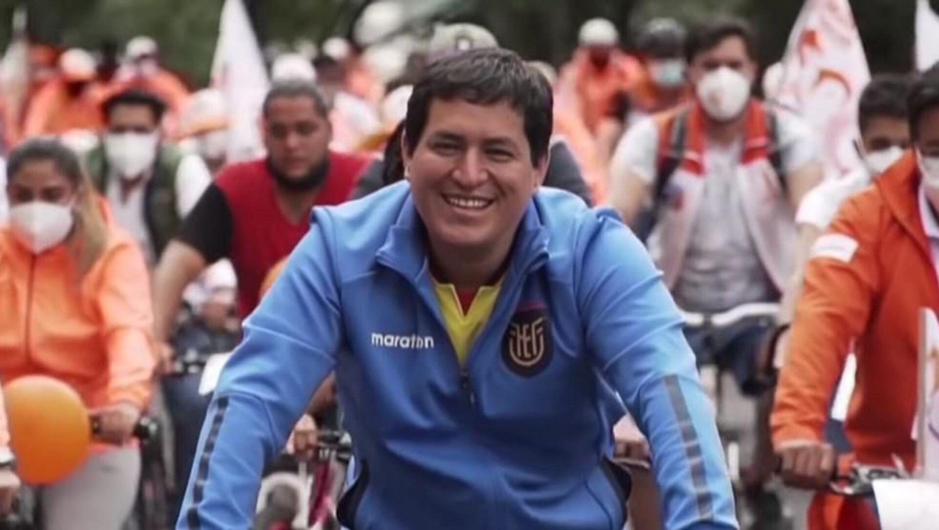 Ecuadorian-presidential-candidate-Andres-Arauz-cycling-in-Ecuador - Sputnik International, 1920, 26.02.2021