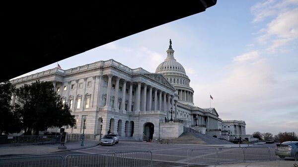 A view of the U.S. Capitol Building as the Democrats and Republicans continue moving forward on the agreement on the coronavirus disease (COVID-19) aid package in Washington, D.C., U.S. December 21, 2020 - Sputnik International