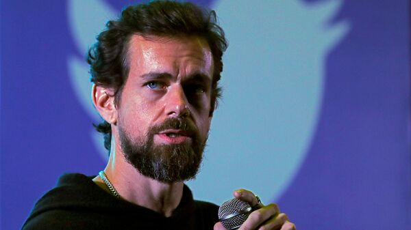 Twitter CEO Jack Dorsey addresses students during a town hall at the Indian Institute of Technology (IIT) in New Delhi, India, November 12, 2018 - Sputnik International