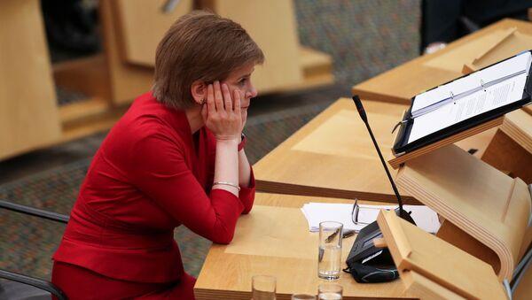 Scottish First Minister Nicola Sturgeon makes a statement on the COVID-19 restrictions, in Edinburgh - Sputnik International