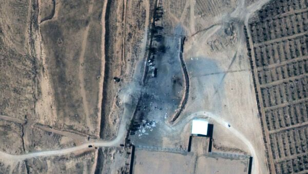 A close up view of destroyed buildings at an Iraq-Syria border crossing after airstrikes, seen in this February 26, 2021 handout satellite image provided by Maxar - Sputnik International