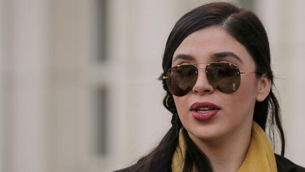 Emma Coronel Aispuro, esposa de Joaquín Guzmán, El Chapo, a la salida de una corte en Brooklyn, Nueva York, EEUU, 4 febrero 2019. - Sputnik International