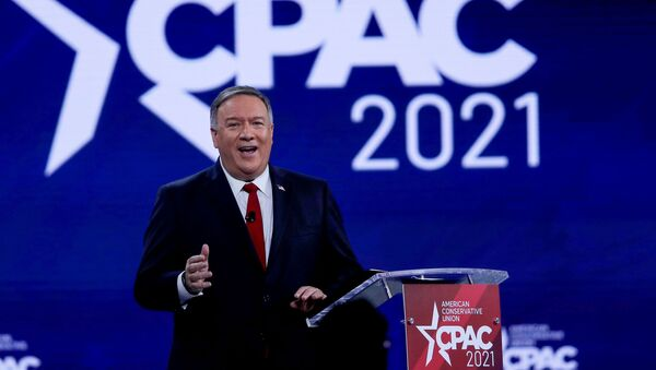 Former U.S. Secretary of State Mike Pompeo speaks at the Conservative Political Action Conference (CPAC) in Orlando, Florida, U.S. February 27, 2021 - Sputnik International