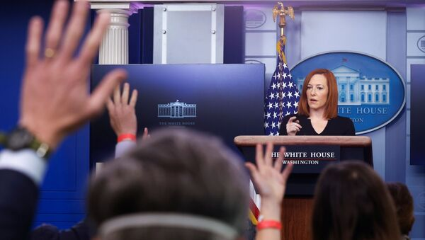 White House Press Secretary Jen Psaki delivers remarks during a press briefing at the White House in Washington, U.S., February 1, 2021.  - Sputnik International