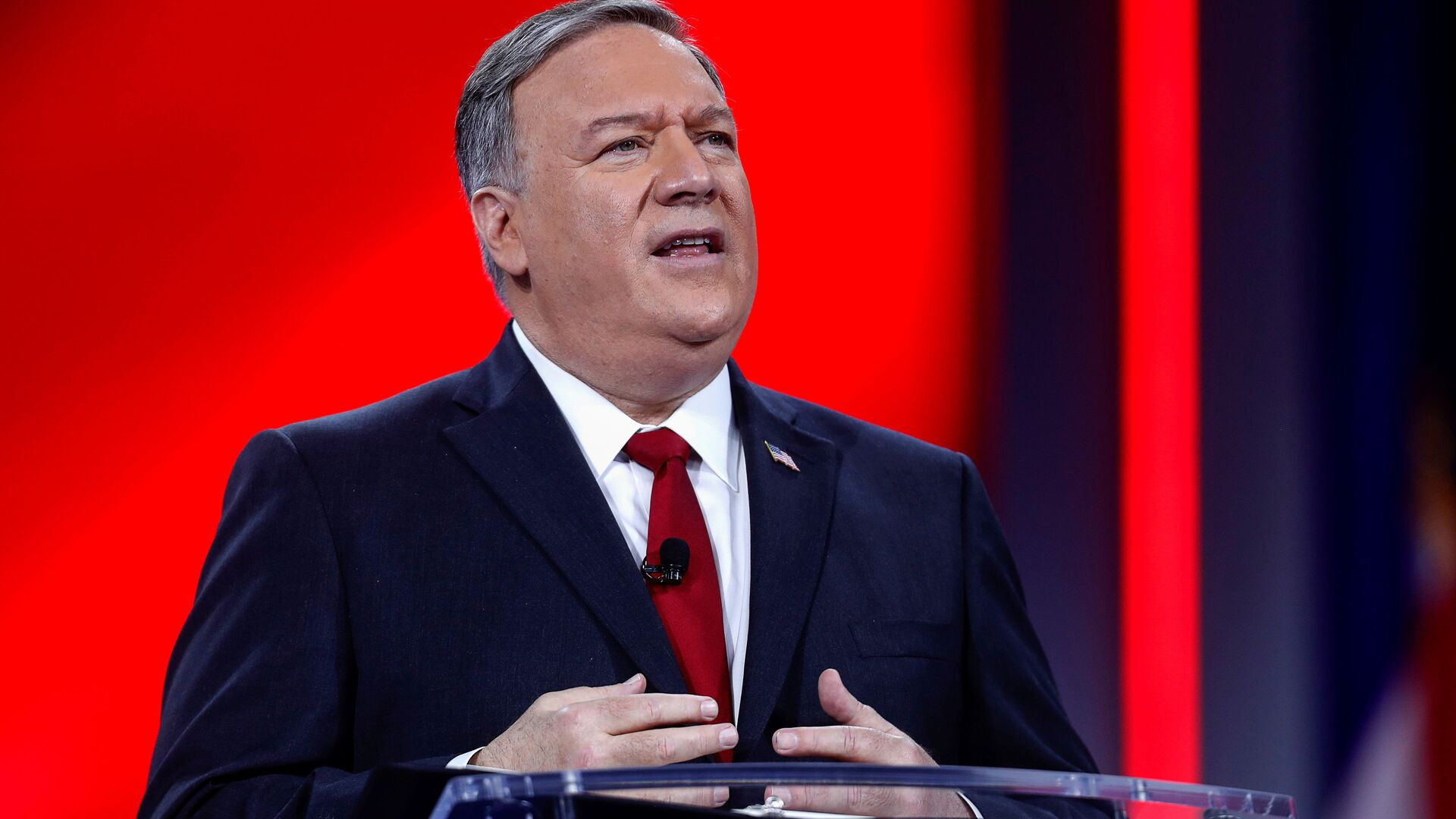Former U.S. Secretary of State Mike Pompeo speaks at the Conservative Political Action Conference (CPAC) in Orlando, Florida, U.S. February 27, 2021.  - Sputnik International, 1920, 01.03.2021