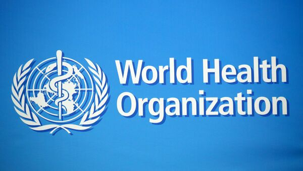 A logo is pictured at the World Health Organization (WHO) building in Geneva, Switzerland, February 2, 2020. Picture taken February 2, 2020.  - Sputnik International