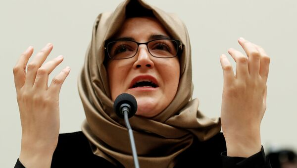 Hatice Cengiz, fiancee of murdered journalist Jamal Khashoggi, testifies before a House Foreign Affairs Subcommittee hearing on The Dangers of Reporting on Human Rights on Capitol Hill in Washington U.S., May 16, 2019 - Sputnik International