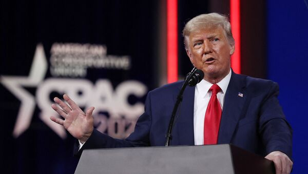 Former U.S. President Donald Trump addresses the Conservative Political Action Conference (CPAC) held in the Hyatt Regency on February 28, 2021 in Orlando, Florida.  - Sputnik International