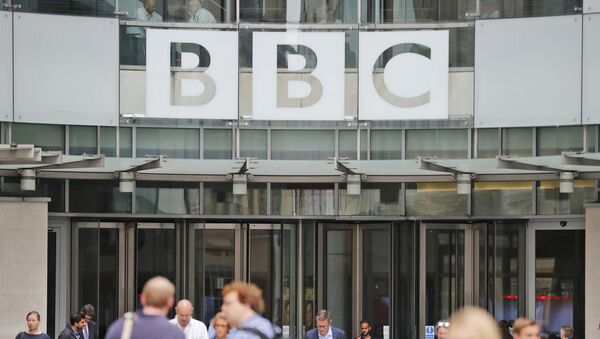 In this file photo dated Wednesday, July 19, 2017, an entrance to the headquarters of the publicly funded BBC in London.  Britain's government announced Wednesday Feb. 5, 2020, that it is considering a change in the way the nation's public broadcaster, the BBC is funded - Sputnik International