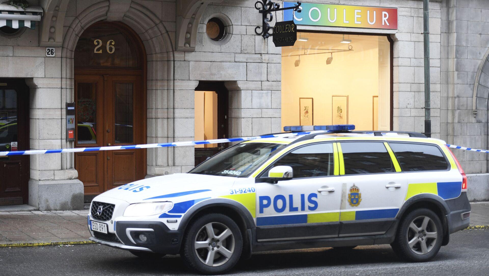 A police car in Sweden - Sputnik International, 1920, 03.08.2021