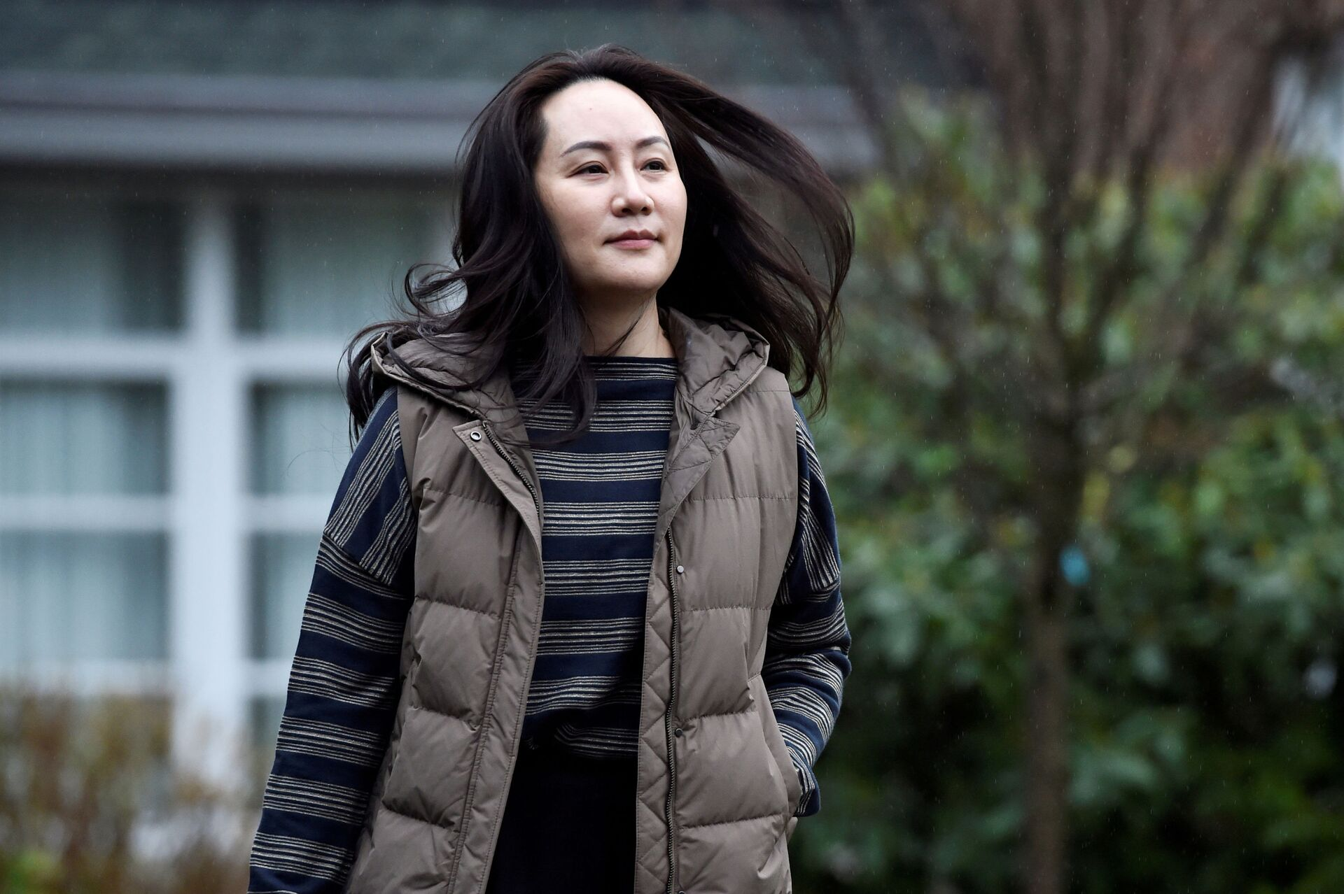Huawei Technologies Chief Financial Officer Meng Wanzhou leaves her home to attend a court hearing in Vancouver, British Columbia, Canada December 7, 2020. - Sputnik International, 1920, 25.09.2021