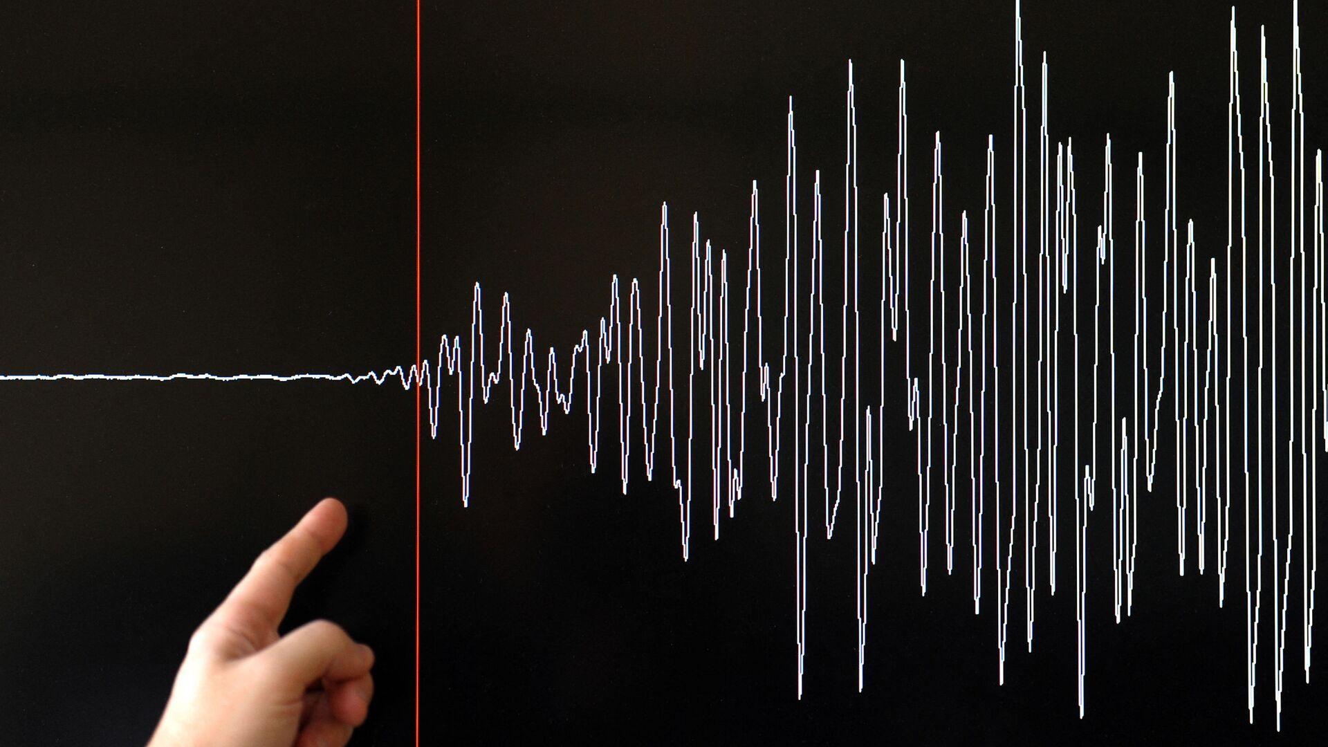 Earthquake seismograph diagram - Sputnik International, 1920, 19.08.2021