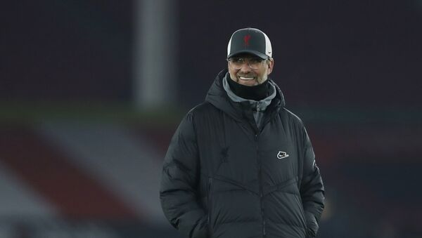 Liverpool manager Juergen Klopp during the warm up before the match on February 28, 2021 - Sputnik International