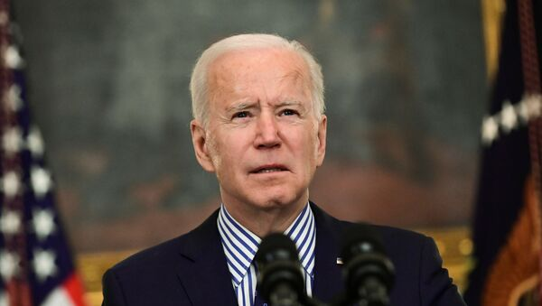 U.S. President Joe Biden makes remarks from the White House after his coronavirus pandemic relief legislation passed in the Senate, in Washington - Sputnik International