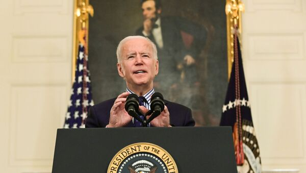 U.S. President Joe Biden makes remarks from the White House after his coronavirus pandemic relief legislation passed in the Senate, in Washington, U.S. March 6, 2021. - Sputnik International