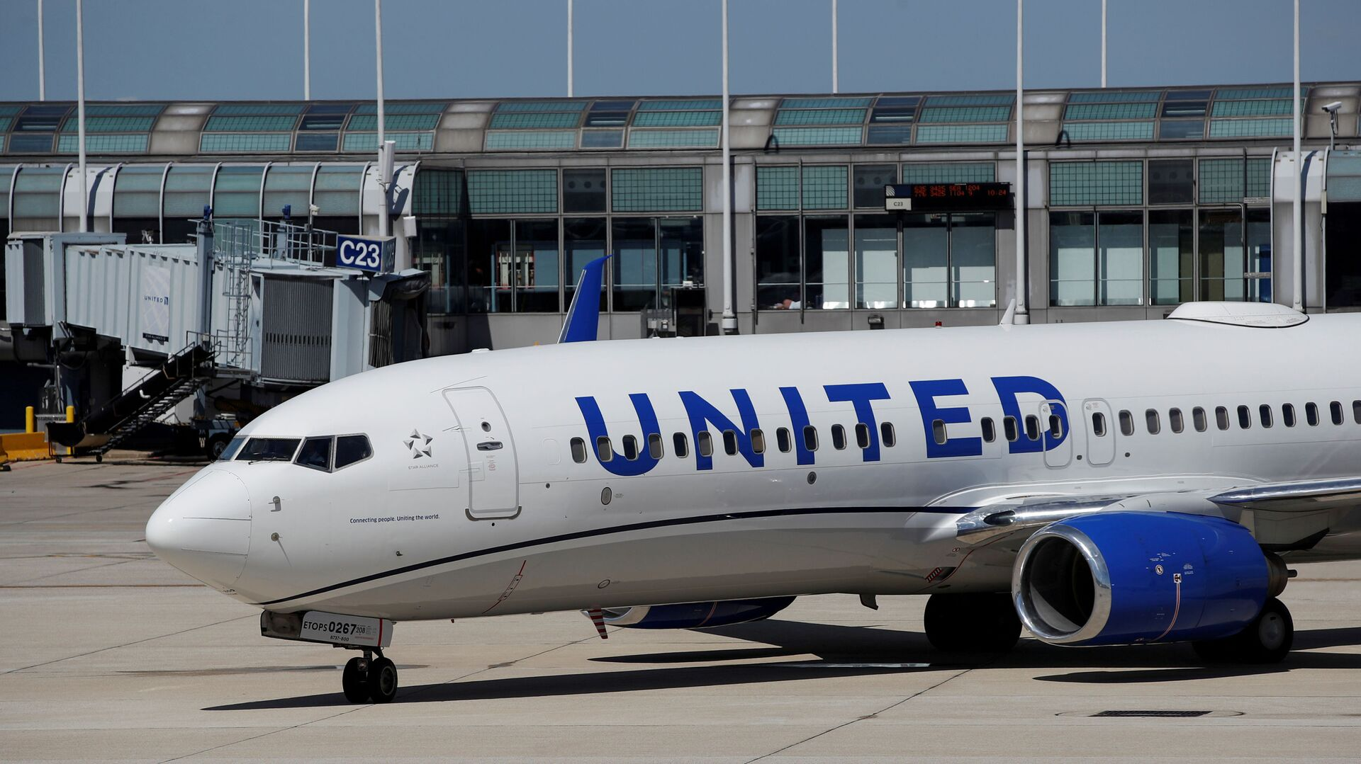 A United Airlines Boeing 737-800 arrives at O'Hare International Airport in Chicago, Illinois, U.S. - Sputnik International, 1920, 26.07.2021