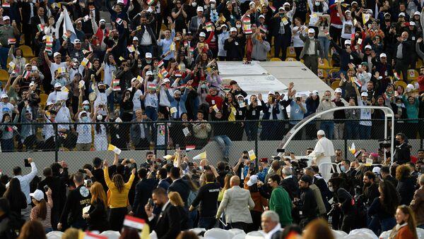 Pope Francis holds a Mass at Franso Hariri Stadium in Erbil, Iraq March 7, 2021. - Sputnik International