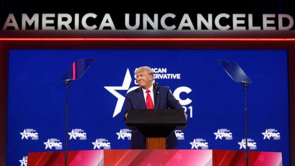 Former U.S. President Donald Trump speaks at the Conservative Political Action Conference (CPAC) in Orlando, Florida, U.S. February 28, 2021 - Sputnik International