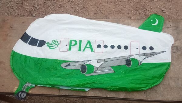 An aircraft-shaped balloon with 'PIA' written on it landed in Sotra Chak village of Hiranagar sector yesterday evening. The balloon was taken into custody by police: Jammu and Kashmir Police - Sputnik International