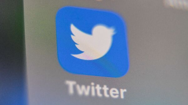 A picture taken on September 4, 2019 shows the logo of the US social networking website Twitter, displayed on a smart-phone screen, in Lille, northern France.  - Sputnik International