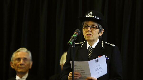Cressida Dick The Metropolitan Police Commissioner reads the poem 'Time' by Henry Van Dyke, watched by The Lord Speaker Lord Fowler during a commemoration for the victims of the attack on Westminster and Parliament, at Westminster Hall inside the Palace of Westminster in London, Thursday, March 22, 2018. On March 22 2017 a knife-wielding man went on a deadly rampage, first driving a car into pedestrians then stabbing a police officer to death before being fatally shot by police within Parliament's grounds. - Sputnik International