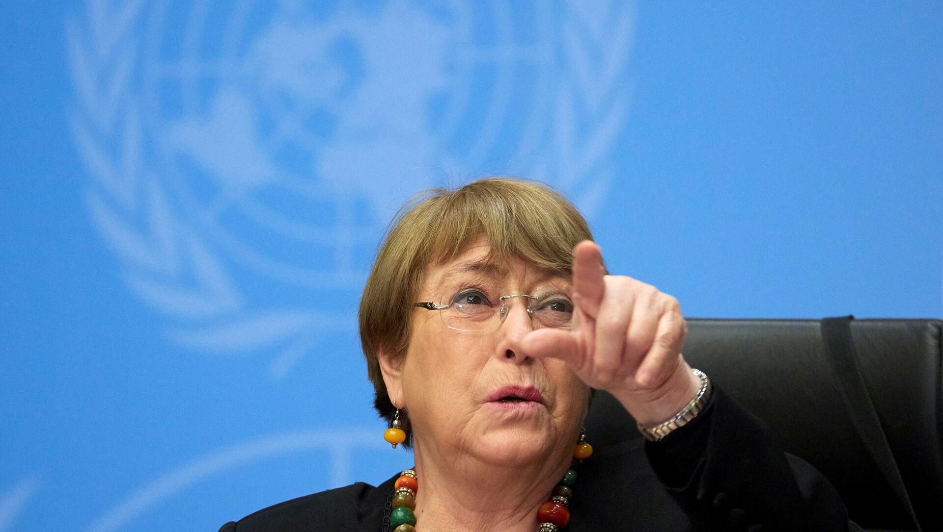 FILE PHOTO: UN High Commissioner for Human Rights Michelle Bachelet gestures during a news conference at the European headquarters of the United Nations in Geneva, Switzerland, 9 December 2020. - Sputnik International, 1920, 24.07.2021