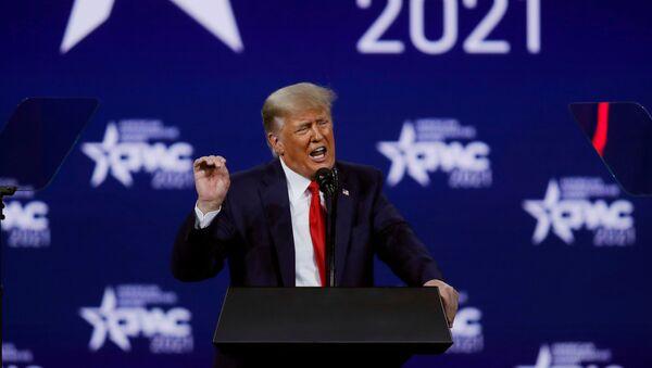 Former U.S. President Donald Trump speaks at the Conservative Political Action Conference (CPAC) in Orlando, Florida, U.S. February 28, 2021. - Sputnik International
