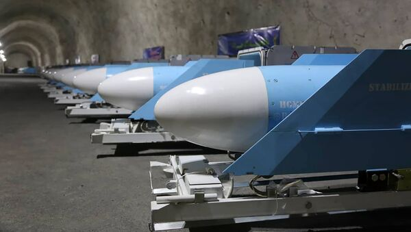 In this photo released Friday, Jan. 8, 2021, by Sepahnews, the website of the Iranian Revolutionary Guard, missiles are displayed during an inauguration of a new military base in an undisclosed location in Persian Gulf in Iran. (Sepahnews via AP) - Sputnik International