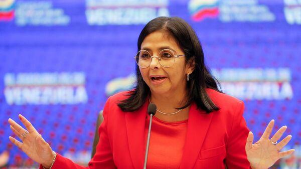 Venezuela's Vice President Delcy Rodriguez speaks during a news conference in Caracas, Venezuela January 11, 2021.  - Sputnik International