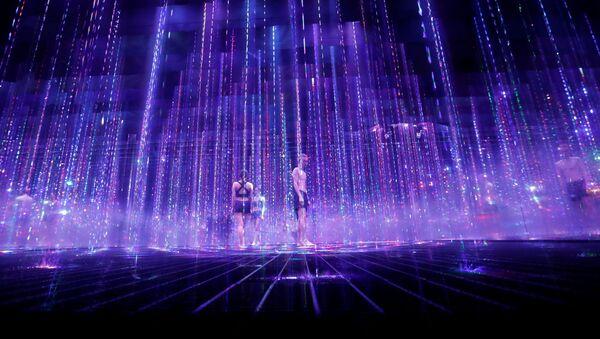 When Digital Art Meets Tradition: Japan's teamLab Presents Digital Sauna - Sputnik International