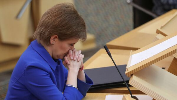 Sturgeon makes coronavirus statement in Scottish parliament, Edinburgh - Sputnik International