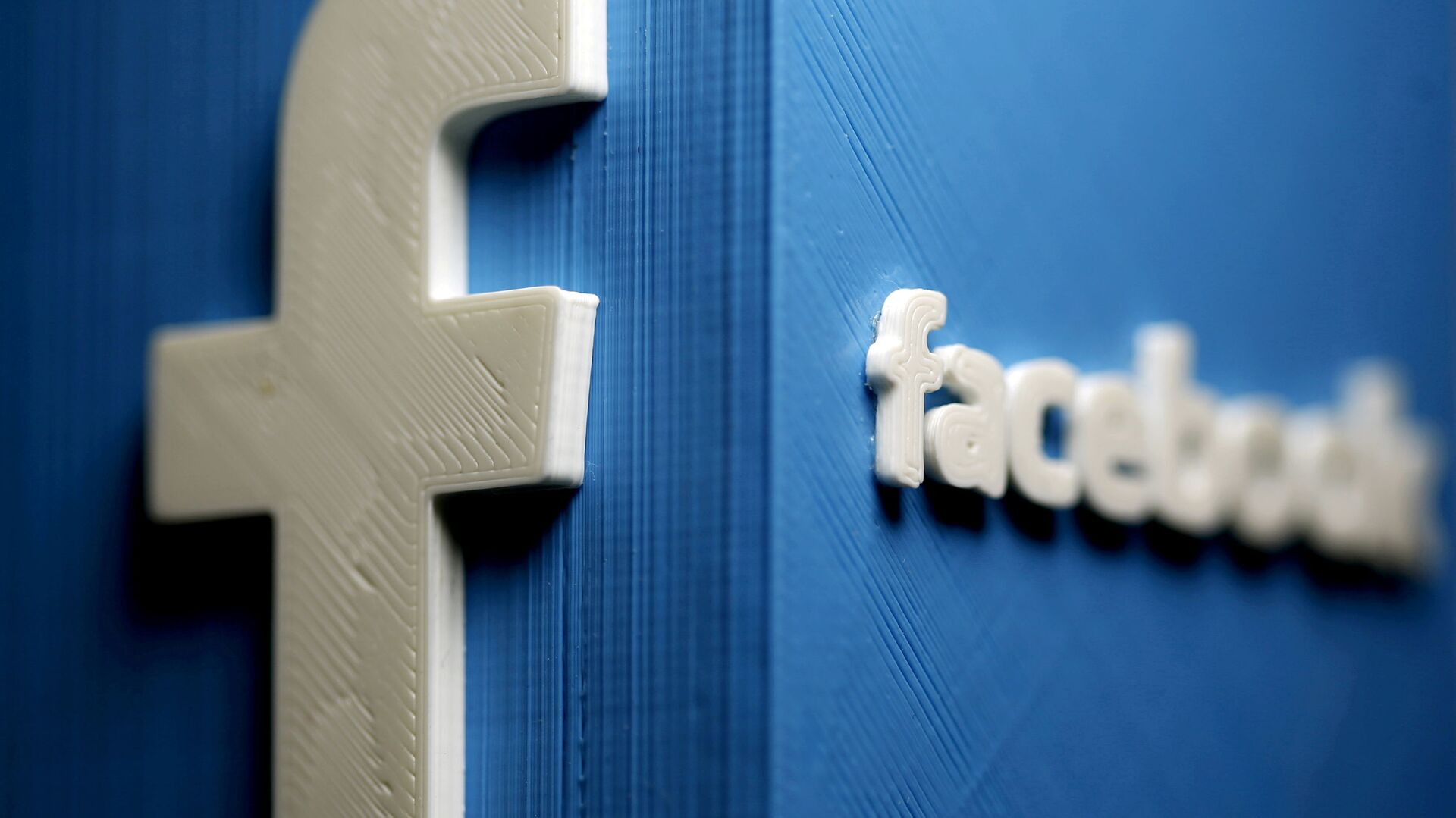 A 3D plastic representation of the Facebook logo is seen in this illustration in Zenica, Bosnia and Herzegovina, May 13, 2015. REUTERS/Dado Ruvic//File Photo/File Photo - Sputnik International, 1920, 22.09.2021