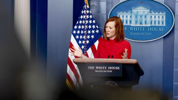 White House Press Secretary Jen Psaki speaks during a press briefing at the White House, Thursday, 18 March 2021, in Washington, DC - Sputnik International