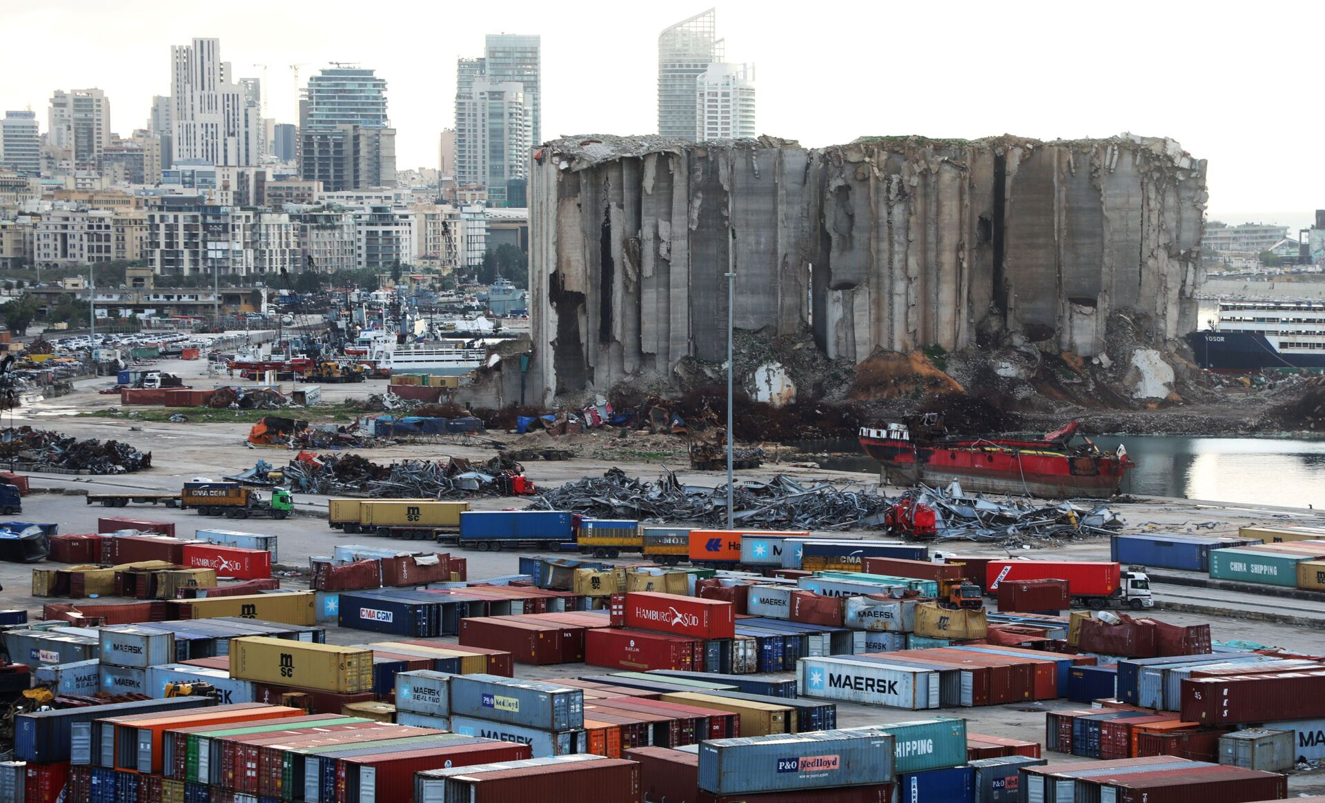 A view shows the site of the August 4 explosion at Beirut port, Lebanon February 18, 2021 - Sputnik International, 1920, 07.09.2021