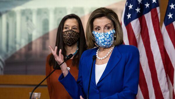 Speaker of the House Nancy Pelosi (D-CA) speaks at a news conference on Capitol Hill, in Washington, U.S., March 19, 2021 - Sputnik International