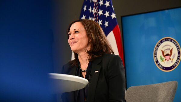 US Vice President Kamala Harris participates in a virtual meeting to discuss the newly-signed American Rescue Plan, COVID-19 relief legislation, at the White House in Washington, US, March 11, 2021 - Sputnik International