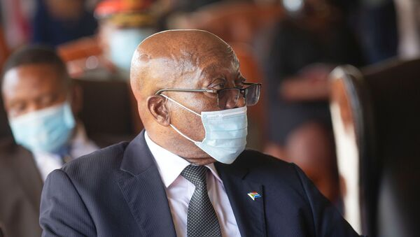 Former South African President Jacob Zuma attends the memorial service for Zulu King Goodwill Zwelithini in Nongoma - Sputnik International