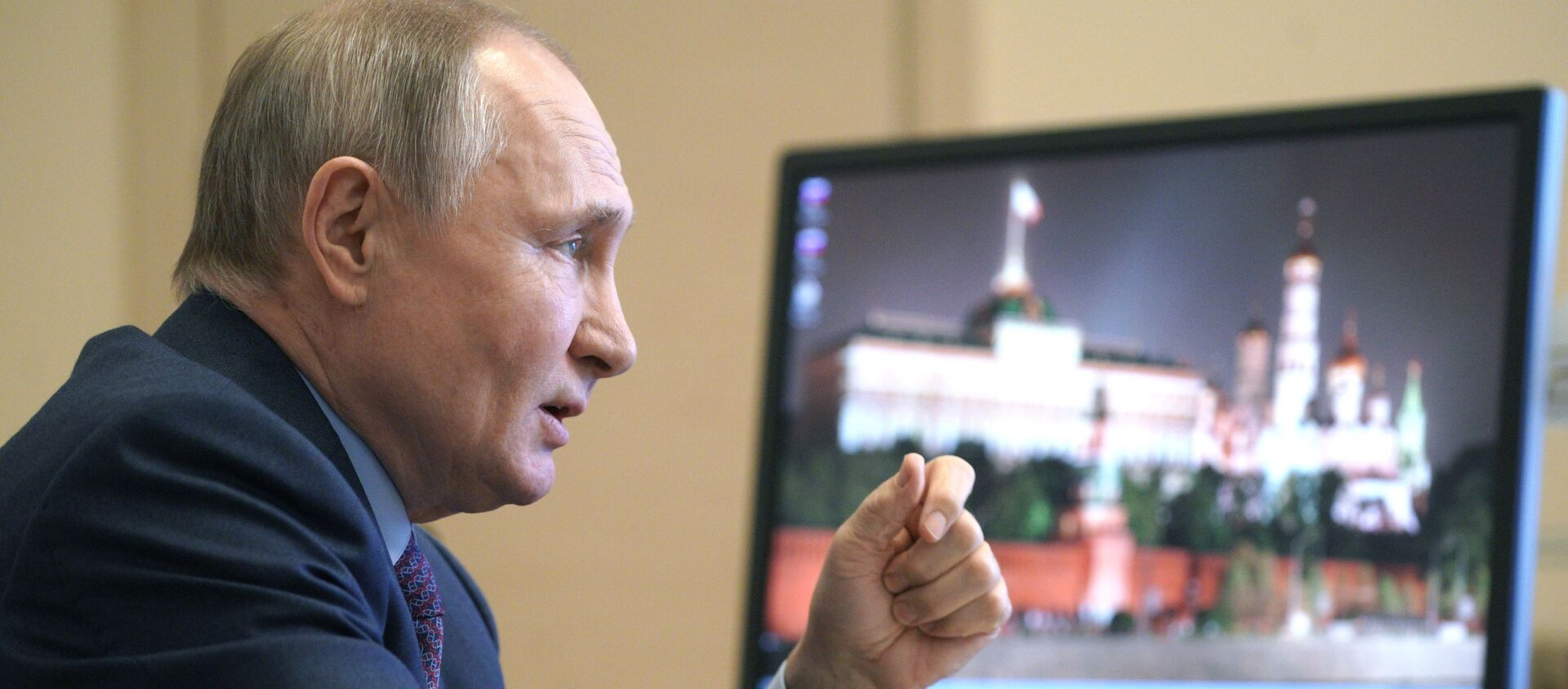 Russian President Vladimir Putin speaking to vaccine producers. March 22, 2021. - Sputnik International, 1920