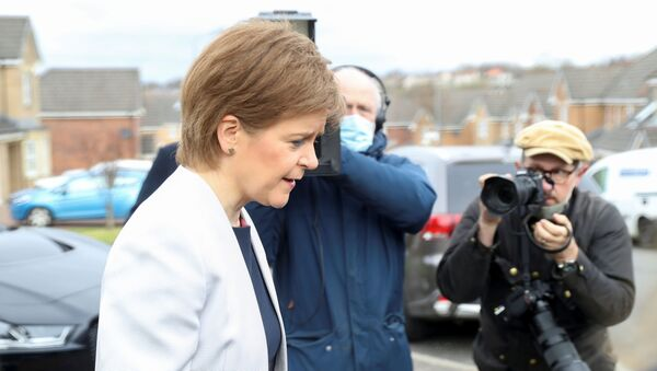 Scotland's First Minister Sturgeon leaves her home in Glasgow - Sputnik International