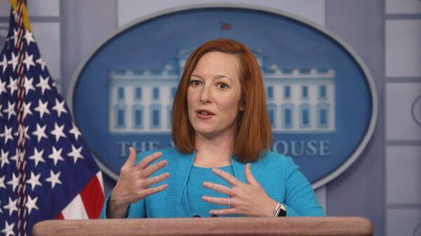 White House Press Secretary Jen Psaki holds a press briefing at the White House in Washington, U.S., March 22, 2021 - Sputnik International