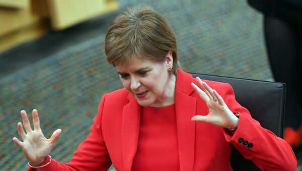 Scotland's First Minister Nicola Sturgeon attends First Minister's Questions in Edinburgh - Sputnik International