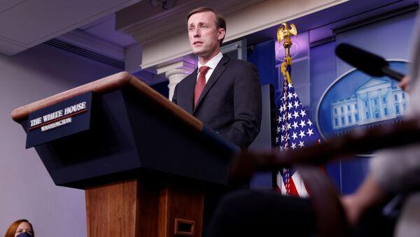 White House National Security Adviser Jake Sullivan delivers remarks during a press briefing at the White House in Washington, US, 12 March 2021. REUTERS/Tom Brenner - Sputnik International