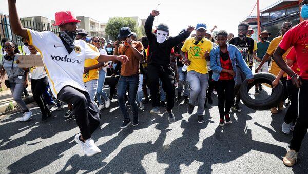 Students protest in Johannesburg - Sputnik International