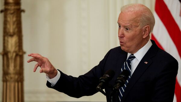 U.S. President Joe Biden takes questions as he holds his first formal news conference in the East Room of the White House in Washington, U.S., March 25, 2021 - Sputnik International