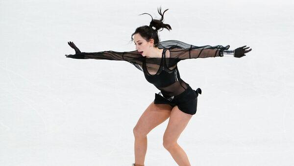 Elizaveta Tuktamysheva (Russia) performs during women single's short program at the World Figure Skating Championship in Stockholm - Sputnik International
