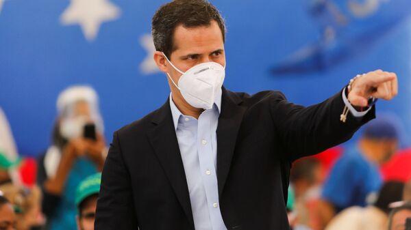 Venezuelan opposition leader Juan Guaido attends a news conference in Caracas, Venezuela March 3, 2021. - Sputnik International